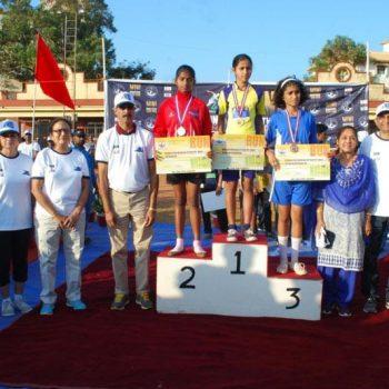 Girls Winner at the Mini Marathon