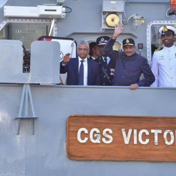 MCG VICTORY FAST PATROL VESSEL, MADE BY GSL FOR MAURITIUS, EMBARKS ON ITS MAIDEN VOYAGE TO MAURITIUS (45 DAYS AHEAD OF SCHEDULE) (2)