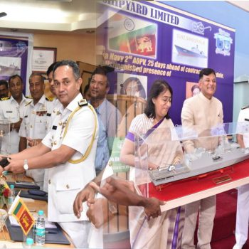 GSL DELIVERED 2ND 2500 TONS LARGE AOPV TO SRI LANKAN NAVY, 25 DAYS AHEAD OF SCHEDULE