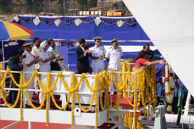 "GSL Built Largest OPV LCGS ""SAMARTH"" Launched On 26th Nov 2014."