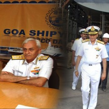 CHIEF OF NAVAL STAFF, ADMIRAL SUNIL LANBA VISITS GSL, April 21, 2017
