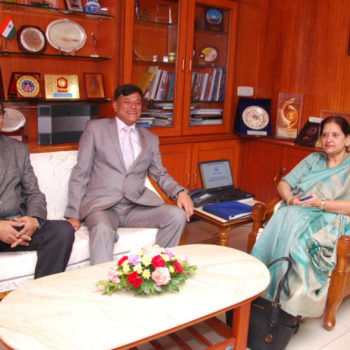 CMd sir with Smt. Surina rajan Additional secretary DP