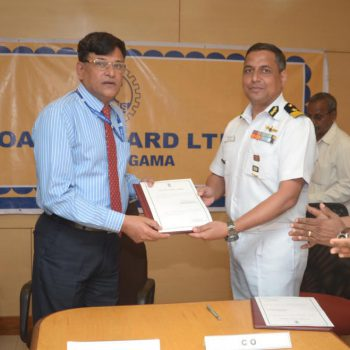 D448 CONTRACT SIGNING FOR YD 1219 ICGS SARATHI, AUG 29, 2016