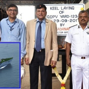 GOA SHIPYARD LAYS KEEL FOR 2nd VESSEL OF NEW CLASS OPVS