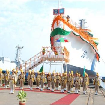 GSL LAUNCHES COAST GUARD SHIP 'SHOURYA'