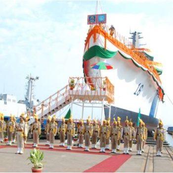 GSL LAUNCHES COAST GUARD SHIP 'SHOURYA' 1