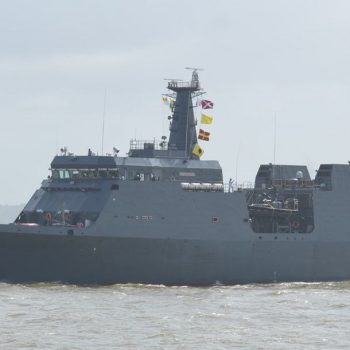 SLNS SAYURALA ADVANCED OFFSHORE PATROL VESSEL, MADE BY GSL FOR SRI LANKA, EMBARKS ON ITS MAIDEN VOYAGE TO SRI LANKA