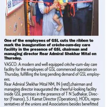 Gomantak Times News Cutting 4th Aug 2018