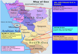 Map of Goa