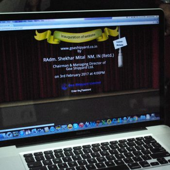 INAUGRATION OF GSL NEW WEBSITE BY RADM SHEKHAR MITAL, NM, IN (RETD) CMD, GSL, 3RD FEB 2017