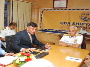 Chief Of Naval Staff, Admiral Sunil Lanba Visits GSL on 21th April 2017