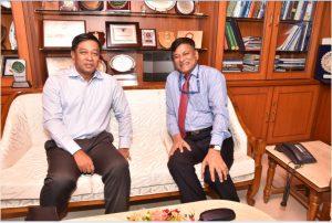 COMMANDER OF MYANMAR NAVY VISITS GSL ON 31st OCT 2017
