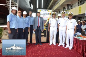 GOA SHIPYARD LAYS KEEL FOR 3RD VESSEL OF NEW CLASS OPVS