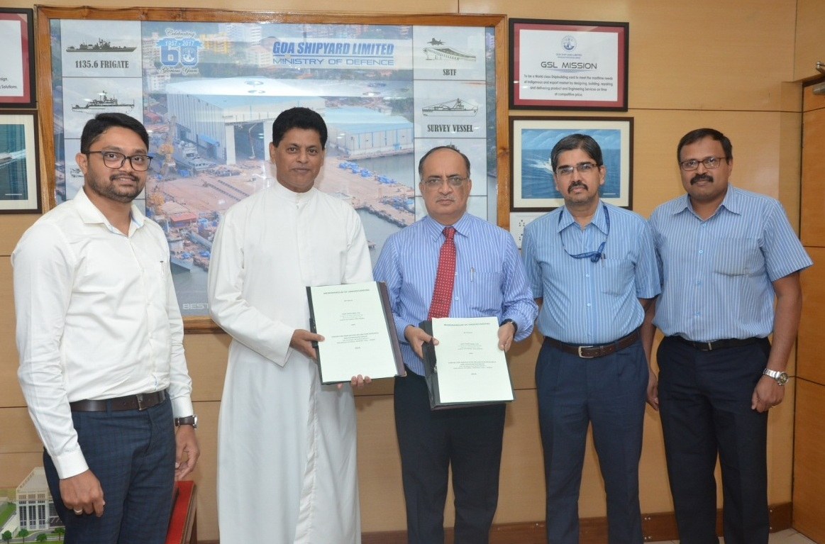 MoU signed between Goa Shipyard Limited (GSL) & Forum for Innovation Incubation Research and Entrepreneurship (FiiRE)