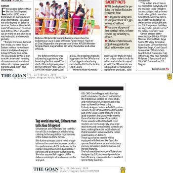 The Goan News Cutting 22 Feb 19 Page 1 4