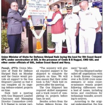 Gomantak Times News Cutting 11th June 19 Page 2