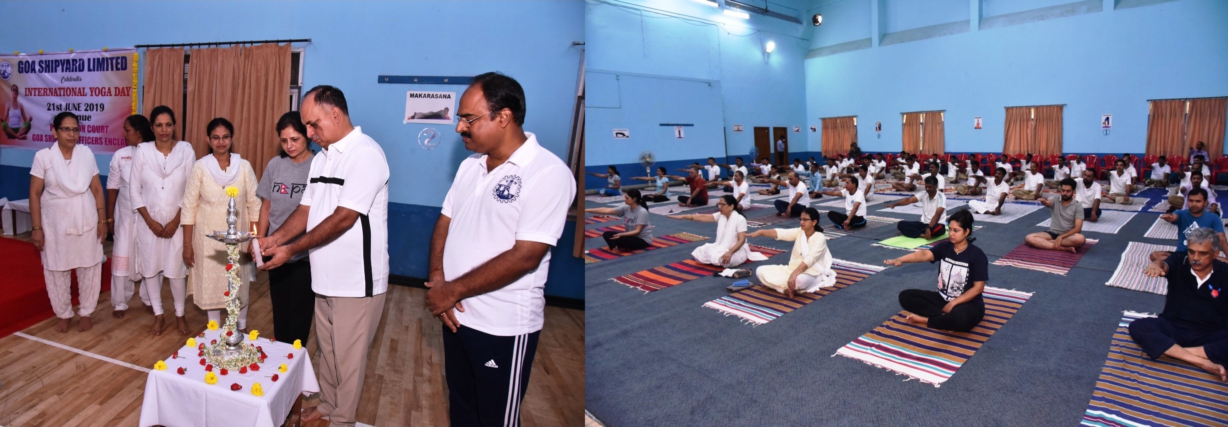 GOA SHIPYARD LIMITED CELEBRATED INTERNATIONAL YOGA DAY