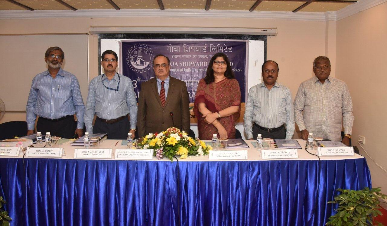 53rd Annual General Meeting (AGM) of Goa Shipyard Limited held on 12th Sept 2019