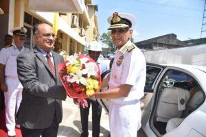 Chief of Naval Staff Adm Karambir Singh, PVSM, AVSM, ADC reviewed projects of Goa Shipyard Limited, during his maiden visit to GSL after taking over as CNS on 3rd Oct 19 He was accompanied by FO C-in-C, Southern Naval Command VAdm AK Chawla and other senior naval officers