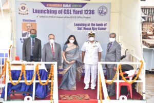 4th Offshore Patrol Vessel, ICGS Sarthak, fitted with indigenous Gear Box, launched by GSL