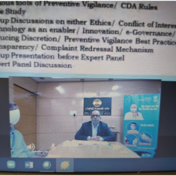 CVC Review Meeting with DDP & DPSUs held on 04.11.2020 via Video Conferencing 2