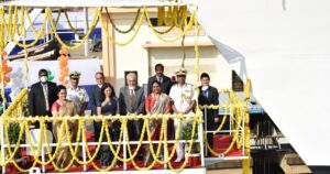 GSL launches Indigenous Coast Guard Offshore Patrol Vessel 5th Vessel of the 5 OPV Project