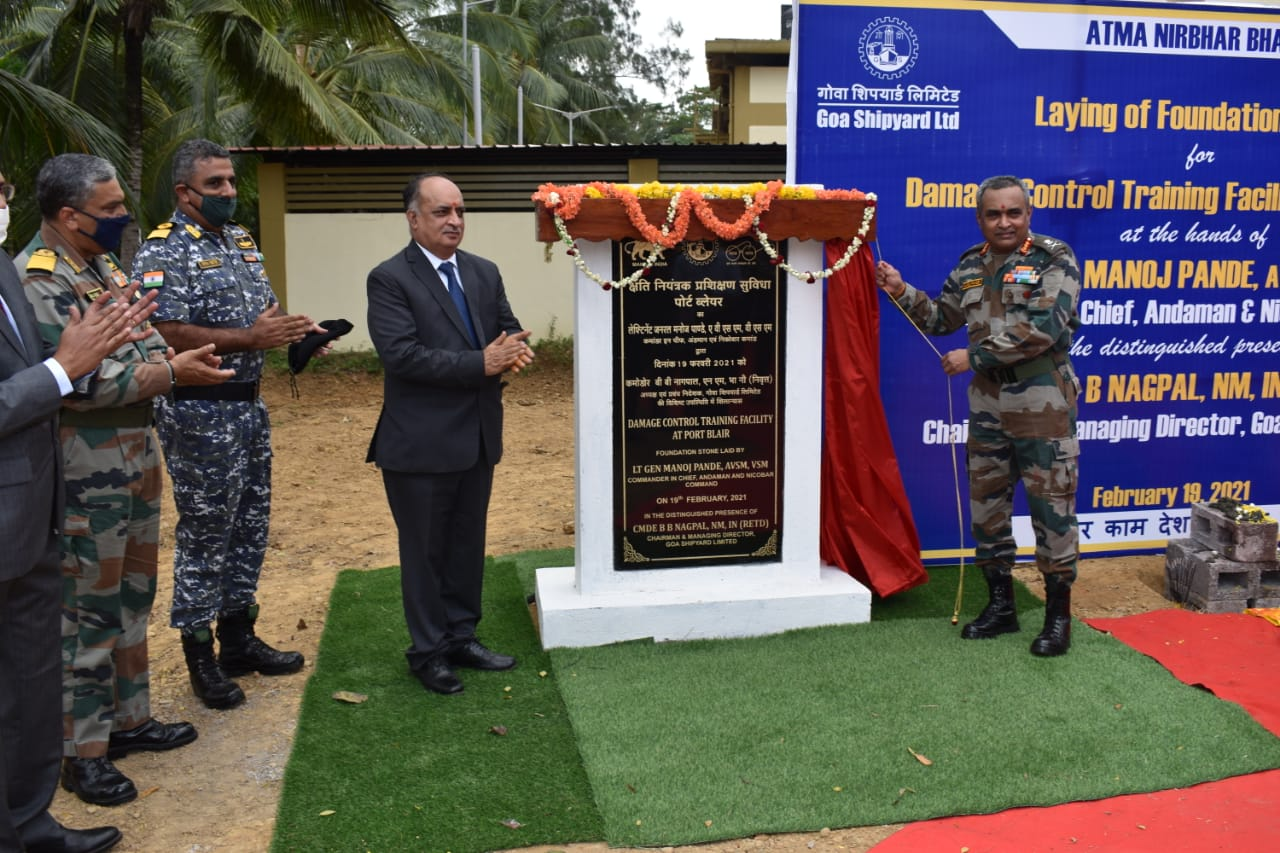 Commander in Chief Lays Foundation Stone