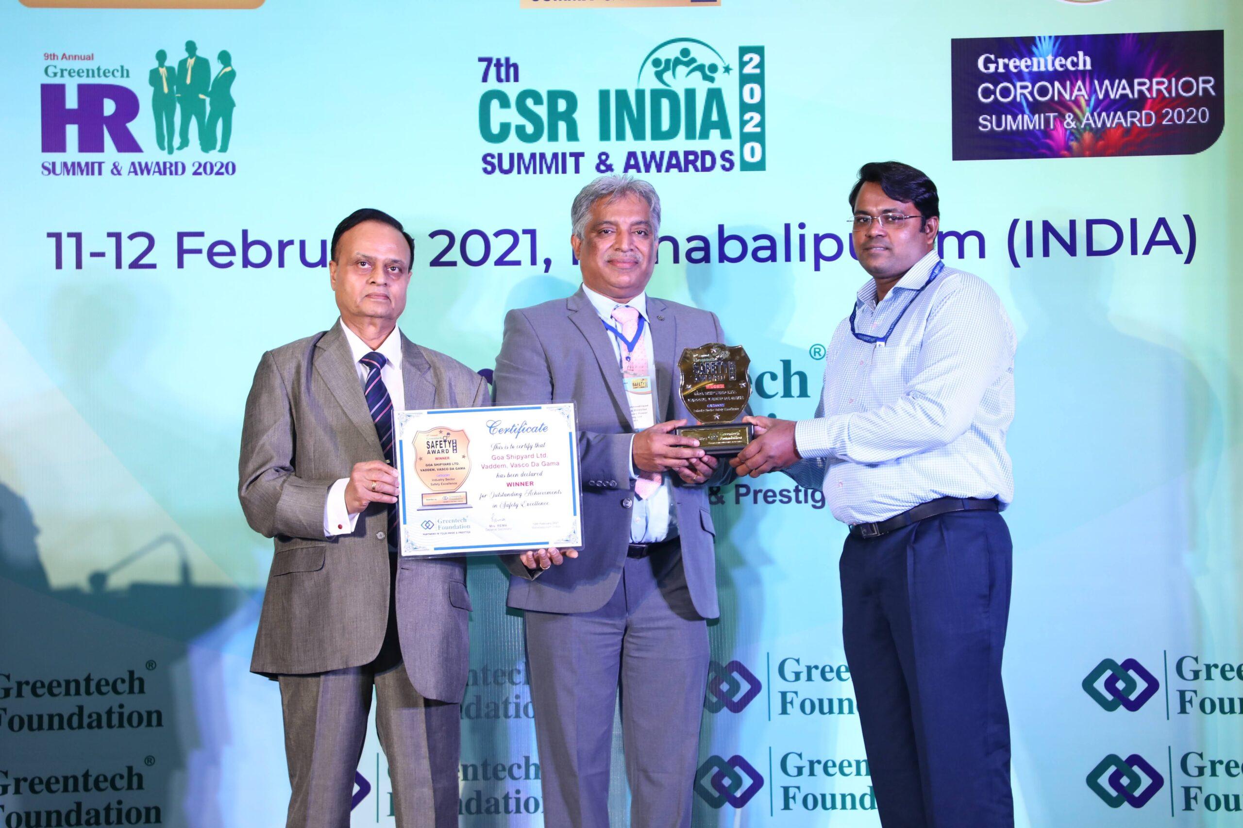 Greentech Award for GSL