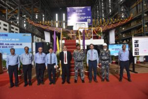 Keel-laid-on-18-Jun-21-for-Second-Frigate-of-P11356-Project-at-GSL-by-VCNS-VADM-G-Ashok-Kumar-PVSM-AVSM-VSM