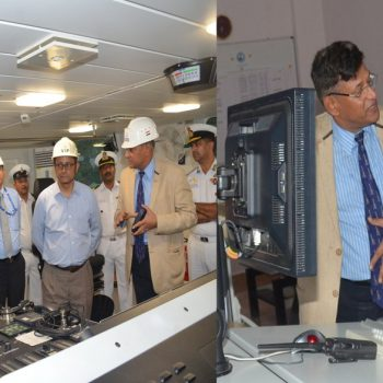 Defence Secretary Shri. Sanjay mitra Visits GSL
