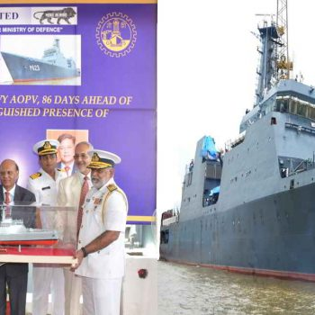 GSL DELIVERED LARGEST OPV TO SRI LANKAN NAVY, 86 DAYS AHEAD OF SHEDULE