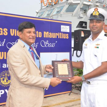 MCG VICTORY FAST PATROL VESSEL, MADE BY GSL FOR MAURITIUS, EMBARKS ON ITS MAIDEN VOYAGE TO MAURITIUS (45 DAYS AHEAD OF SCHEDULE)