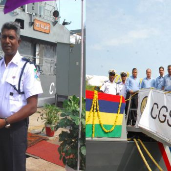 MCGS VALIANT FAST PATROL VESSEL, MADE BY GSL FOR MAURITIUS, EMBARKS ON ITS MAIDEN VOYAGE TO MAURITIUS