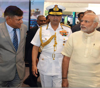 CMD GSL explaining 'Make In India' Vision of GSL Prime Minister Shri. Narendra Modi