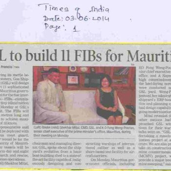 GSL to build 11 FIBs for Mauritius