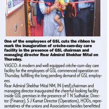 Gomantak Times News Cutting 4th Aug 2018