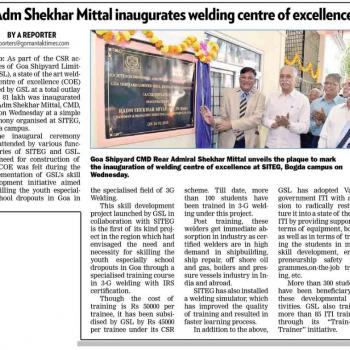 Gomantak Times News Cutting page no 2 on 16th Feb 2018