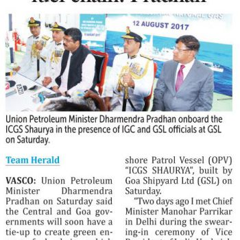 Herald page no 1 for commissioing news on 13th aug 2017