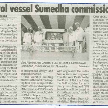Patrol vessel Sumedha commissioned