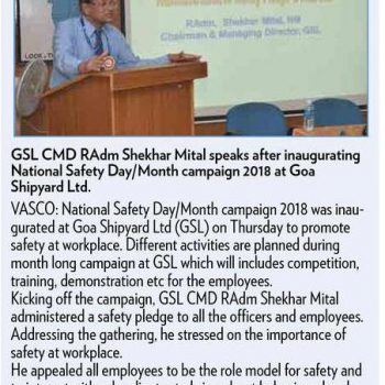 The Gomantak times News cutting page 4 9th march 2018