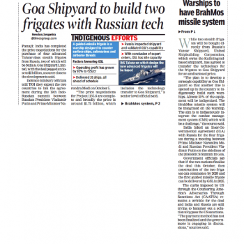 The Times of India News Cutting 28th Sept 2018 Page 1