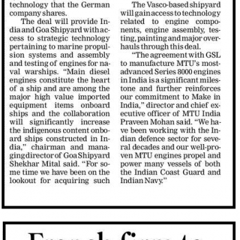 Times of India News Cutting on 13th April 2018 Page 2