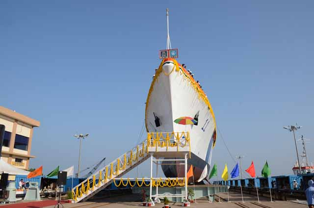 """GSL Built Largest OPV LCGS """"SAMARTH"""" Launched On 26th Nov 2014."""