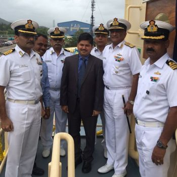 GSL delivers 4th Fuel Barge of 04 x 1000 T Fuel Barges project  for Indian Navy on 23rd July 2018, 5 months ahead of contractual delivery  schedule, in the presence of Cmde G Shyamsundhar, CSO (Tech). Barge  inducted into service by RAdm K J Kumar, Flag Officer Commanding Karnataka  Naval Area on 24 July 18.