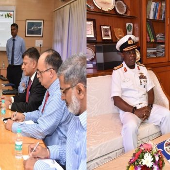 VAdm Ibok-Ete Ekwe Ibas, Chief of the Naval Staff, Nigerian  Navy visited Goa Shipyard Ltd on 19TH July 2018. During the visit, VAdm  Ibok-Ete Ekwe Ibas held discussions with RAdm Shekhar Mital, NM, IN  (Retd), CMD on various issues of cooperation.